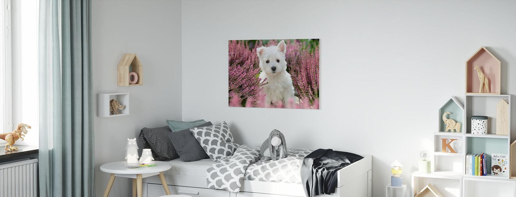 Hund harmoni - Billede på lærred - Børneværelse