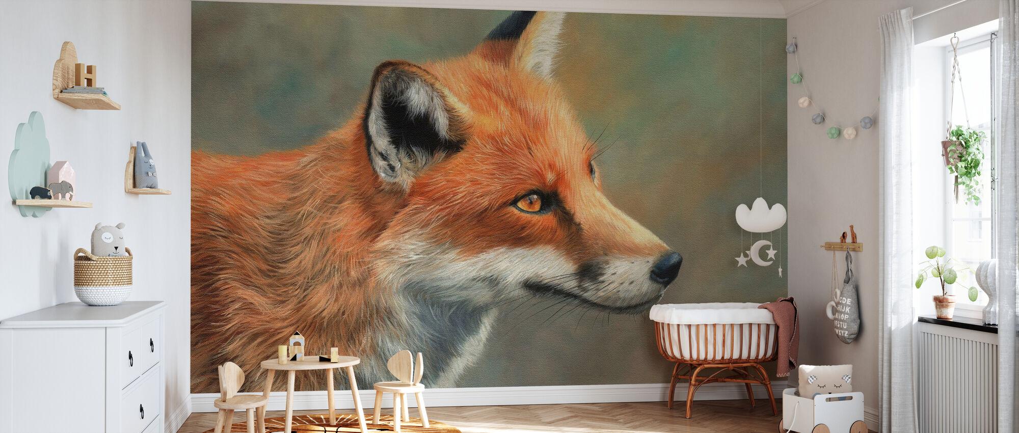 Fox Nærbilde - Tapet - Babyrom