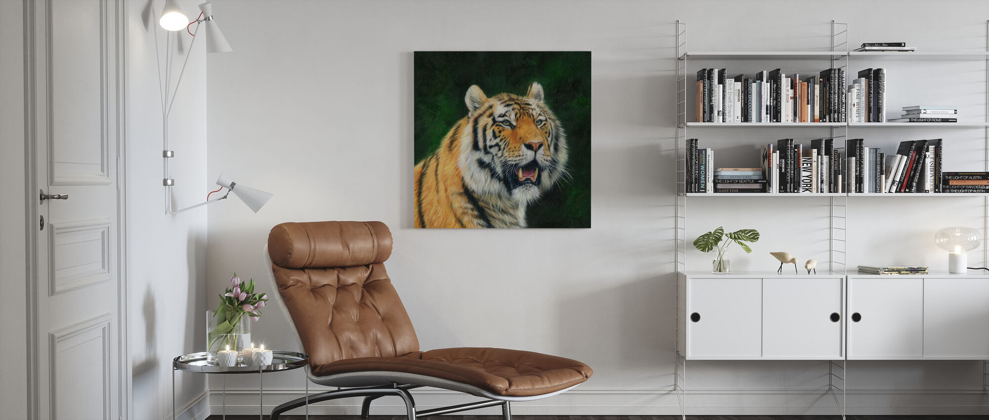 Rijpe Amoer Tijger - Canvas print - Woonkamer
