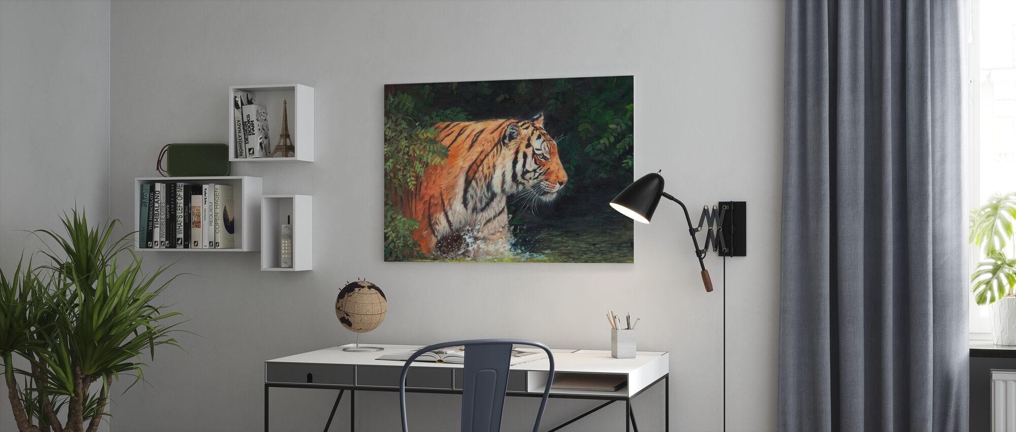 Tijger - Canvas print - Kantoor