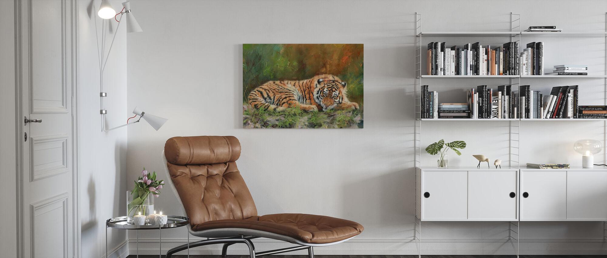 Amoer Tijger - Canvas print - Woonkamer