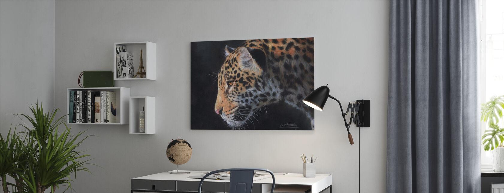 Jaguar Portret - Canvas print - Kantoor