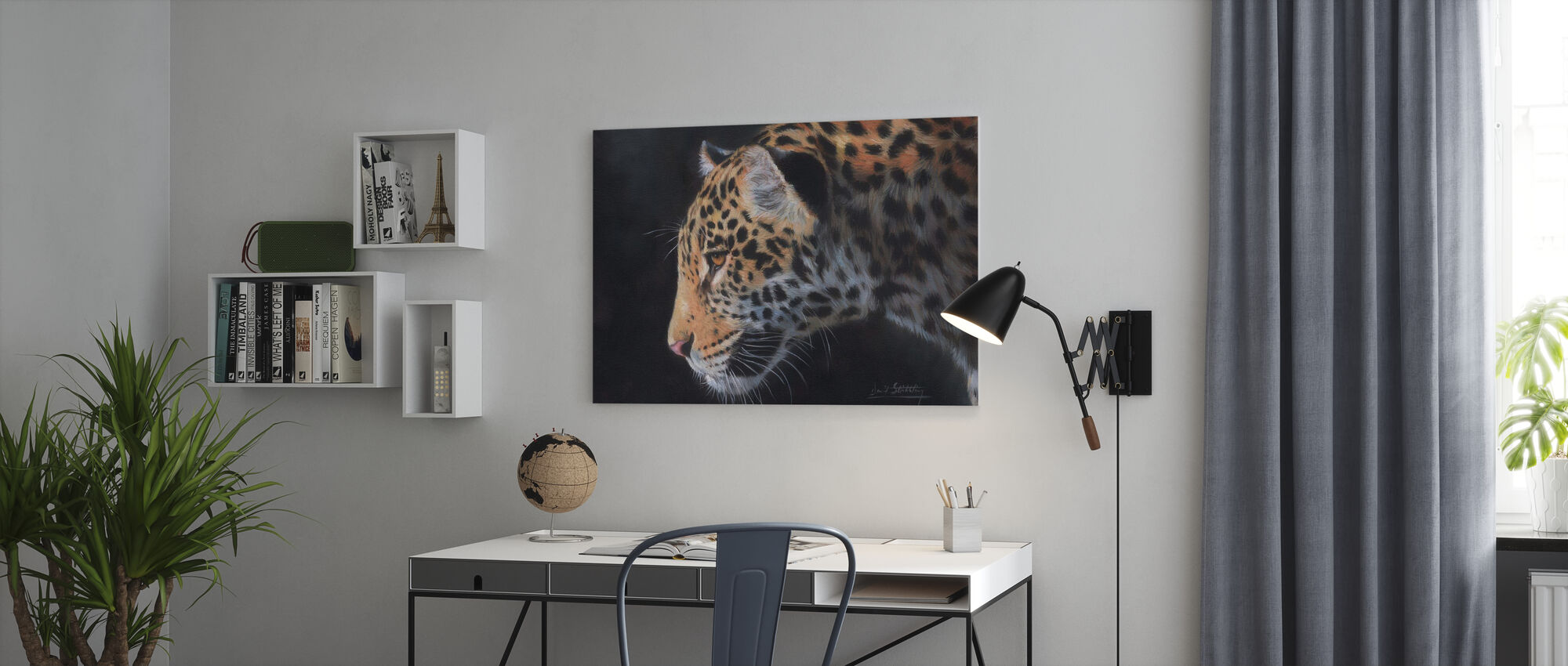 Jaguar-Porträt - Leinwandbild - Büro