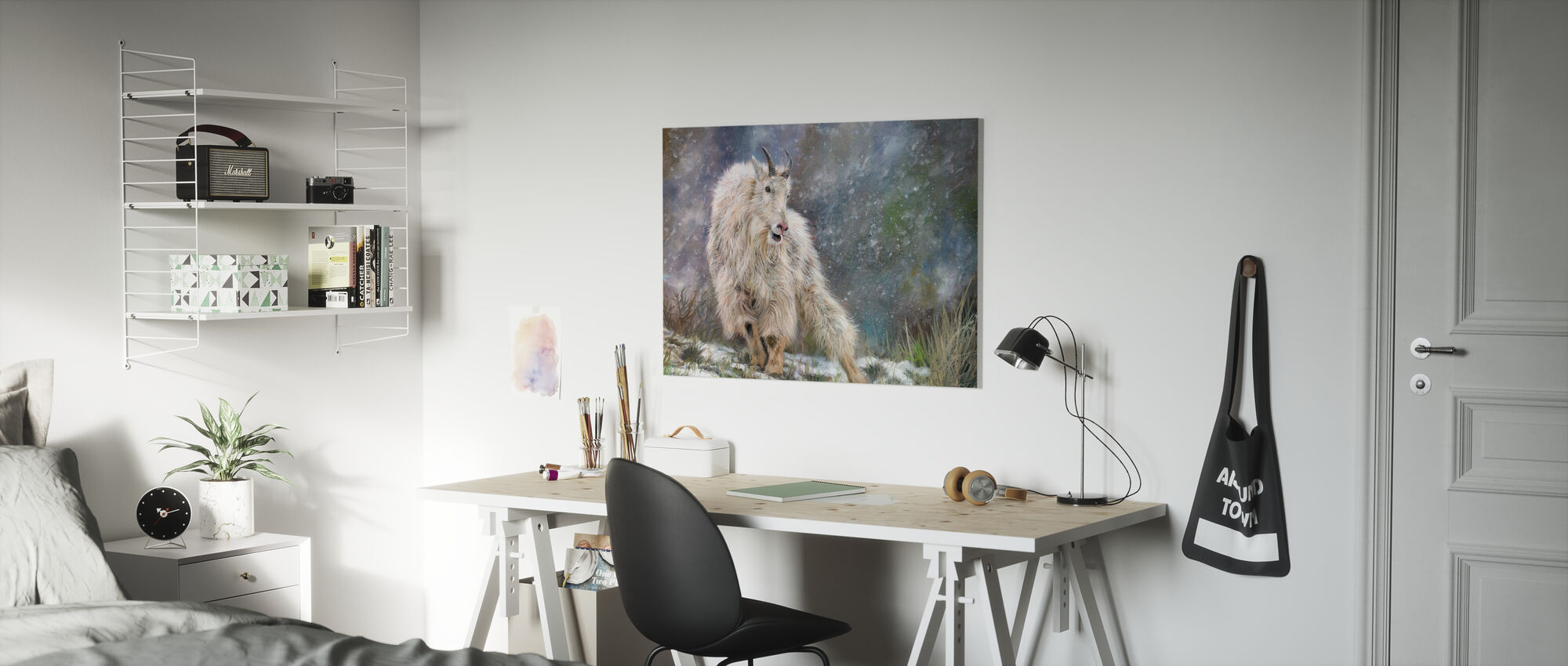 Wilde Berg Geit - Canvas print - Kinderkamer