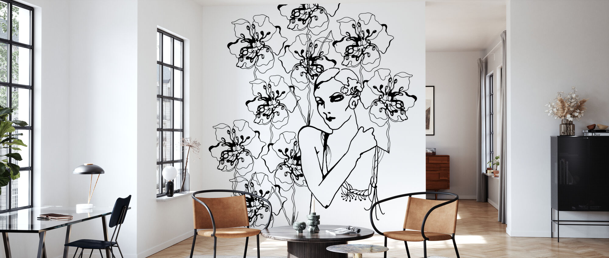 1920s Fashion - Wallpaper - Living Room