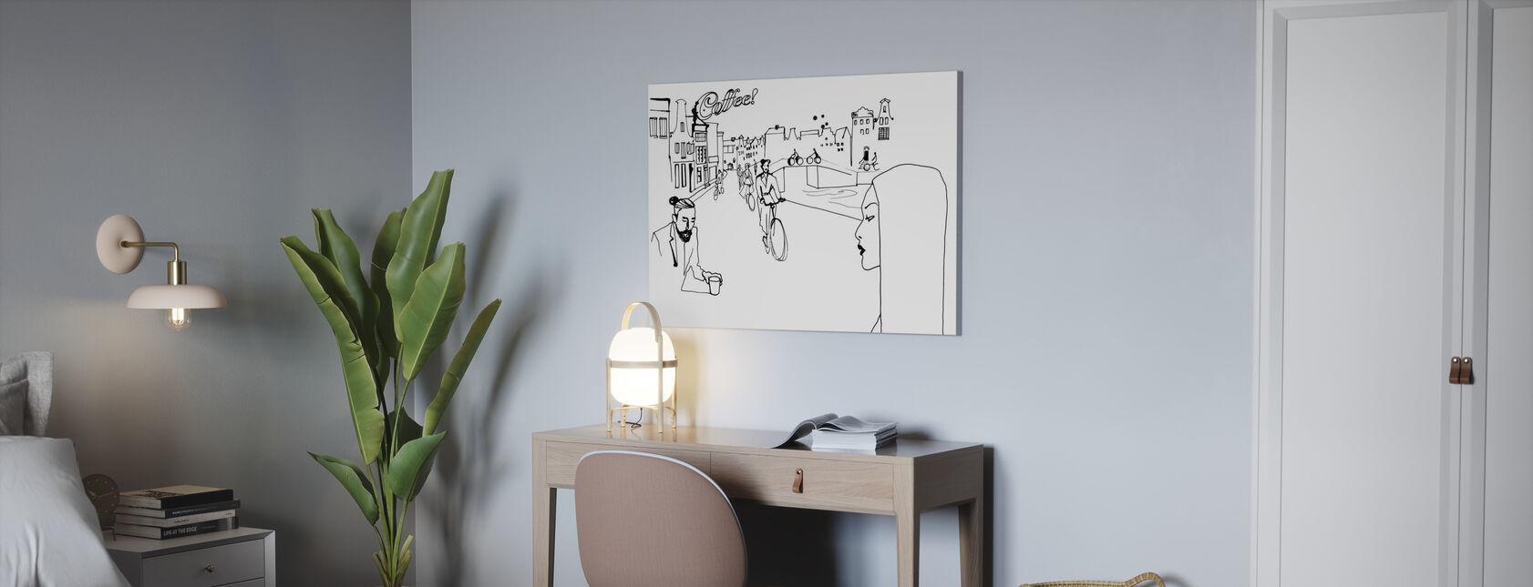 Amsterdam - Leinwandbild - Büro