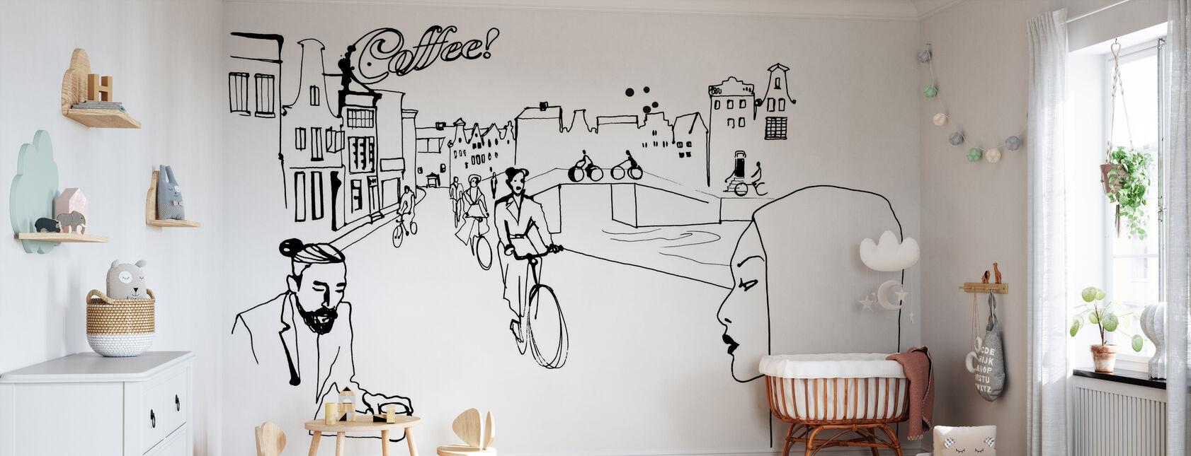 Amsterdam - Behang - Babykamer