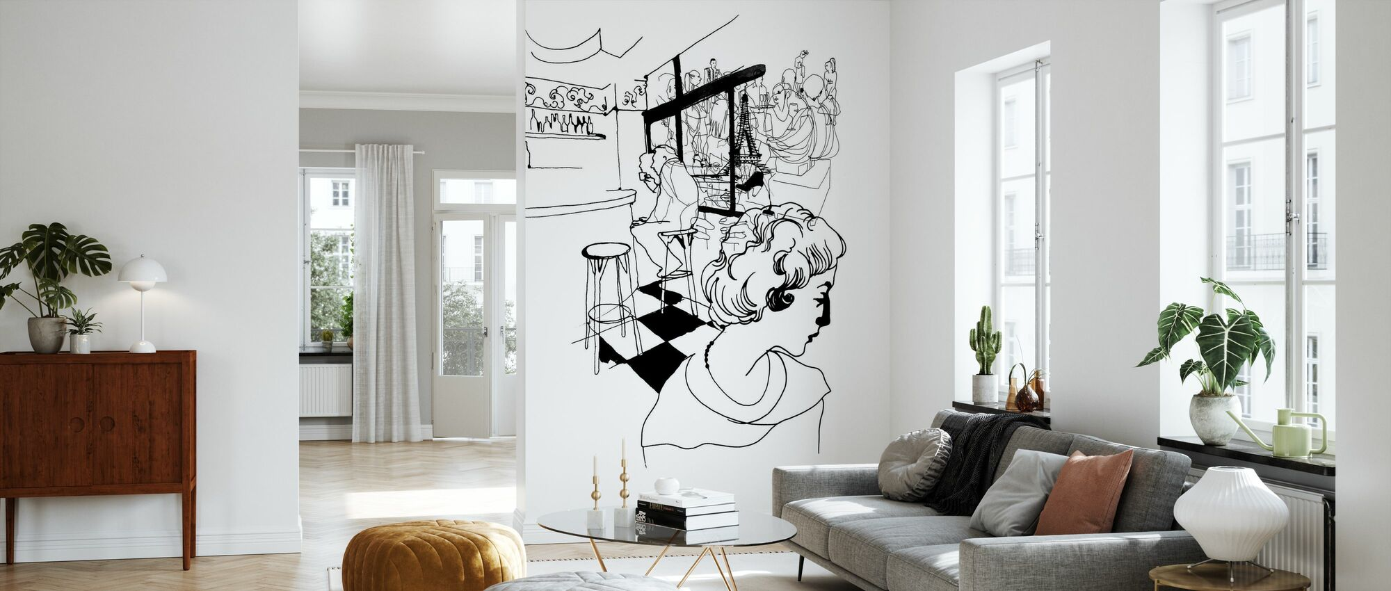 Coffee in Paris - Wallpaper - Living Room