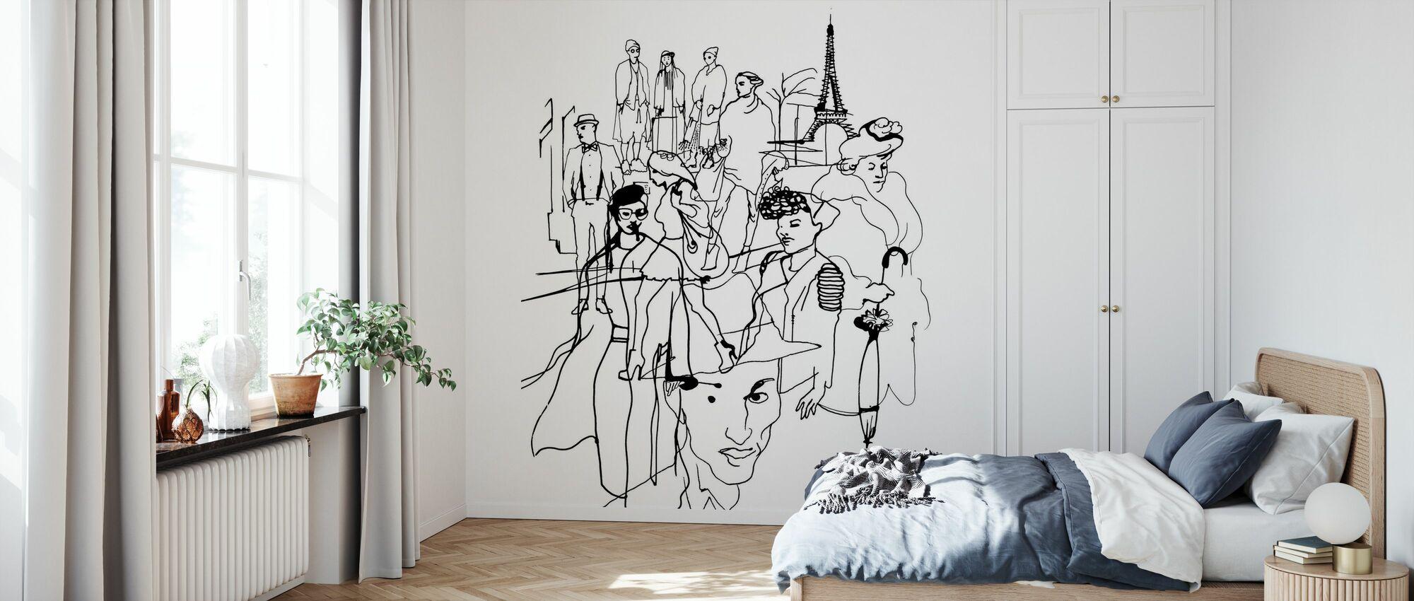 Paris - Tapete - Schlafzimmer