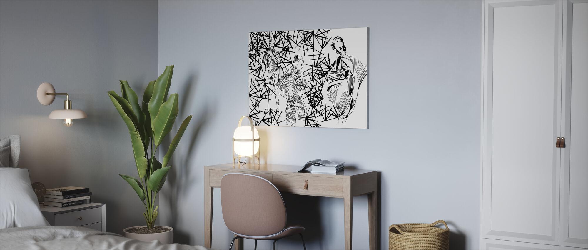 Geplooide schoonheid - Canvas print - Kantoor