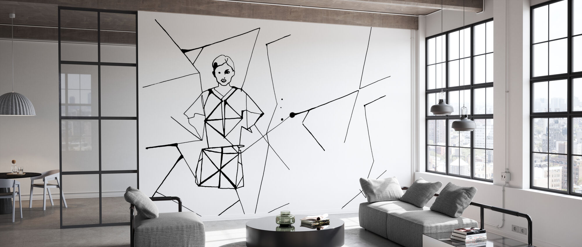 Pleated Beauty II - Wallpaper - Office