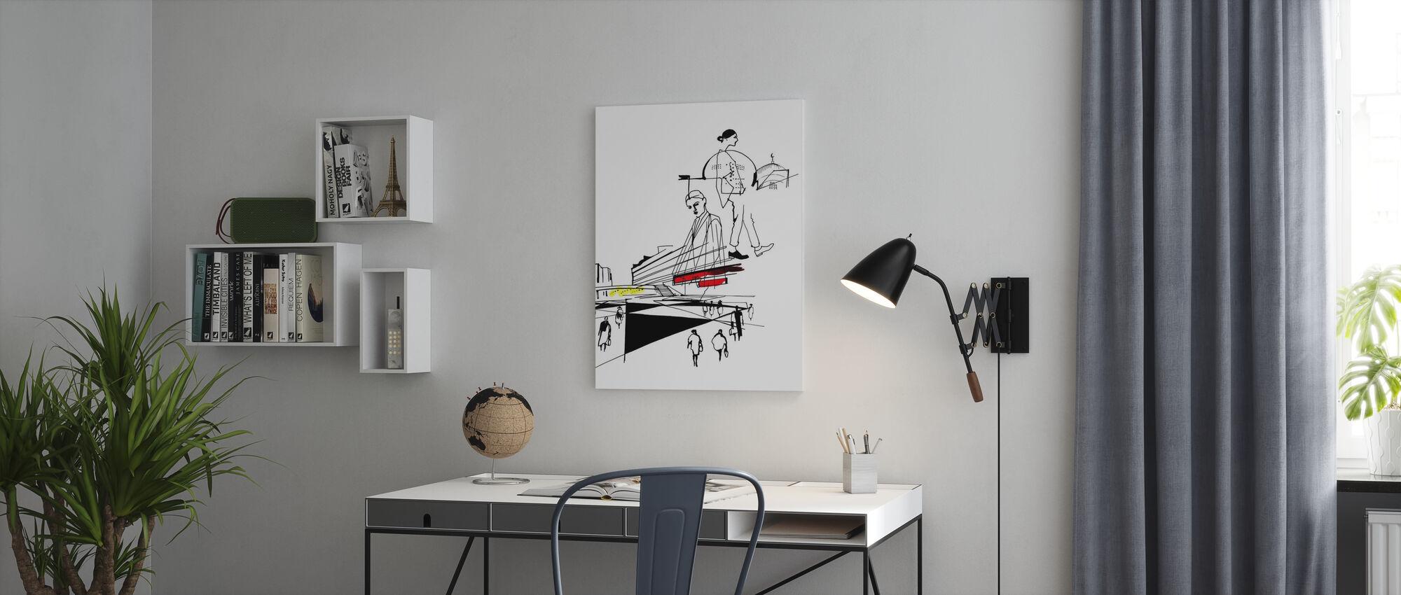 Stockholm - Sergels Torg - Canvas print - Office
