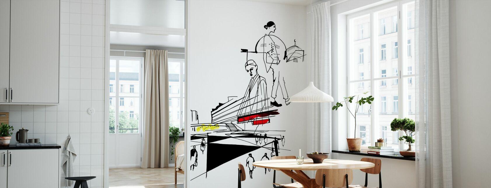 Stockholm - Sergels Torg - Tapet - Køkken