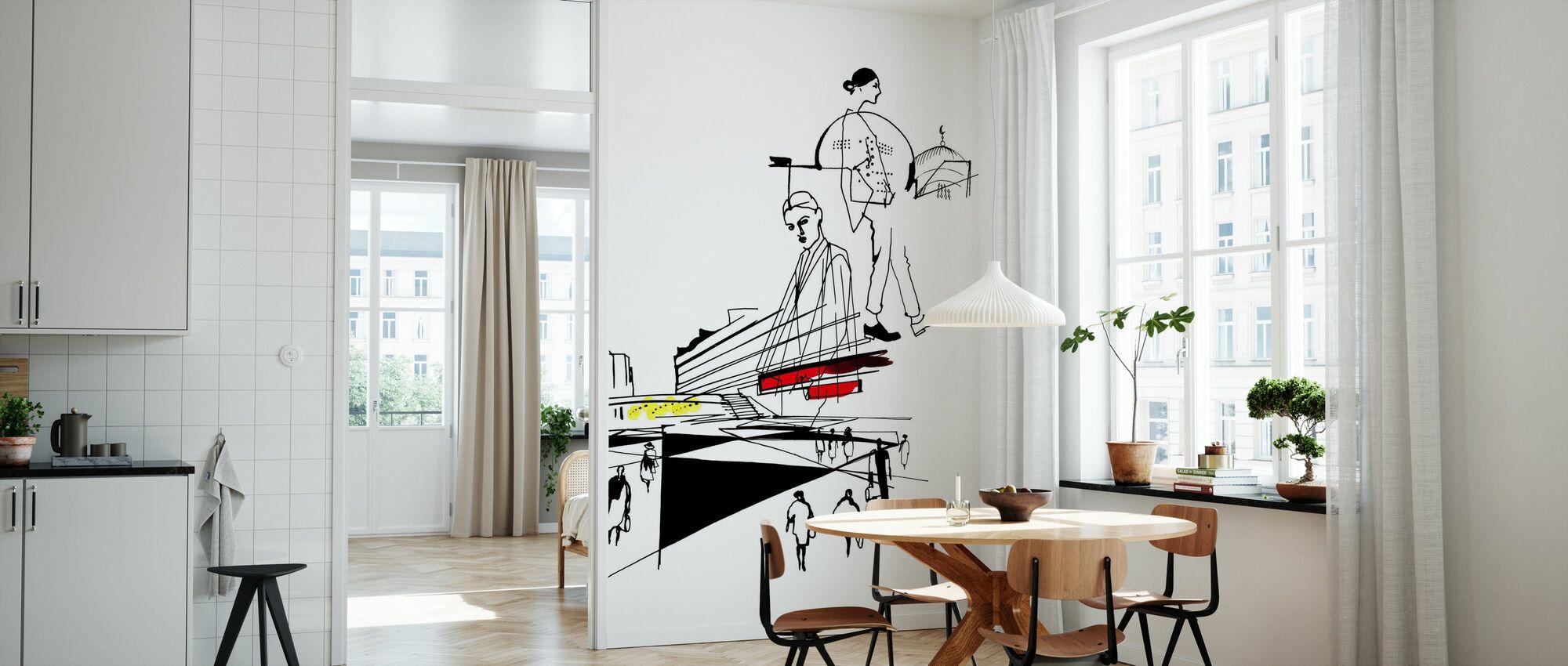 Stockholm - Sergels Torg - Wallpaper - Kitchen