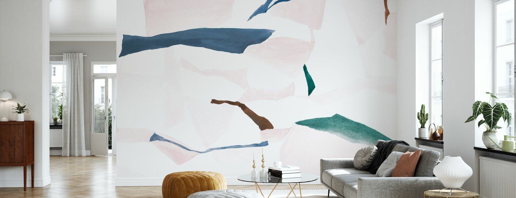 Fractal Chalcedony and Geode - Wallpaper - Living Room