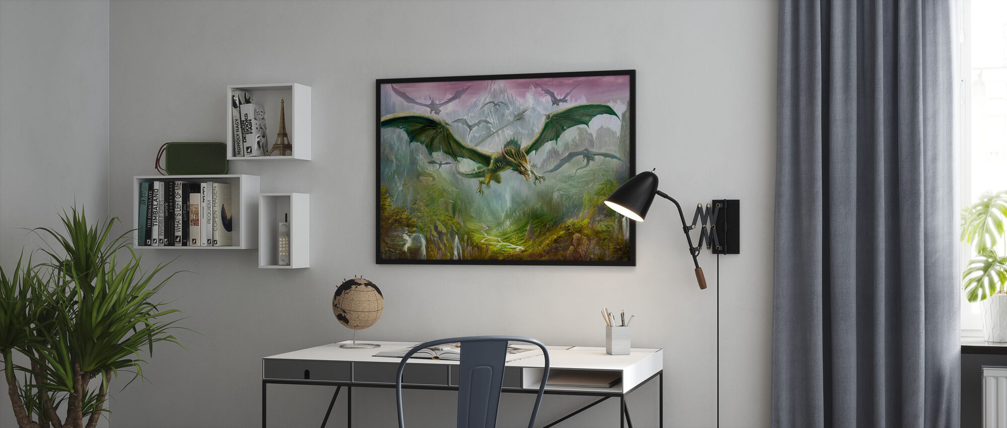 The Valley of Dragons - Framed print - Office