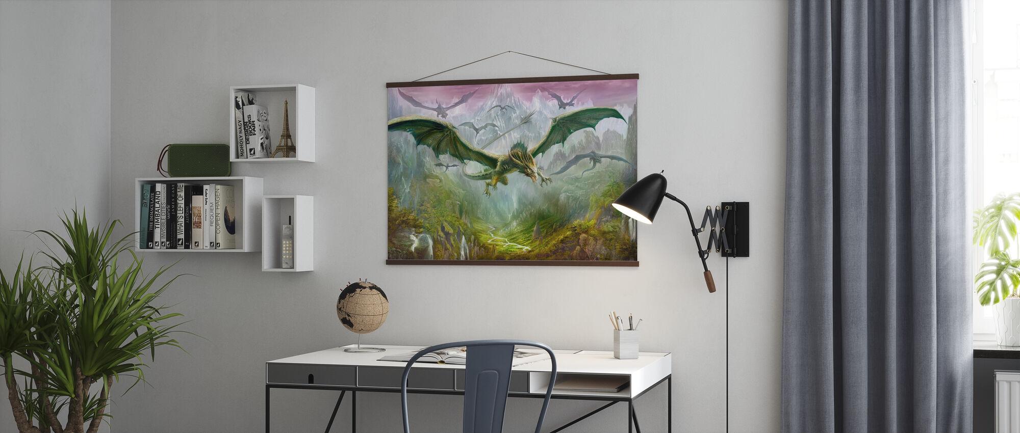 Dalen av drager - Plakat - Kontor