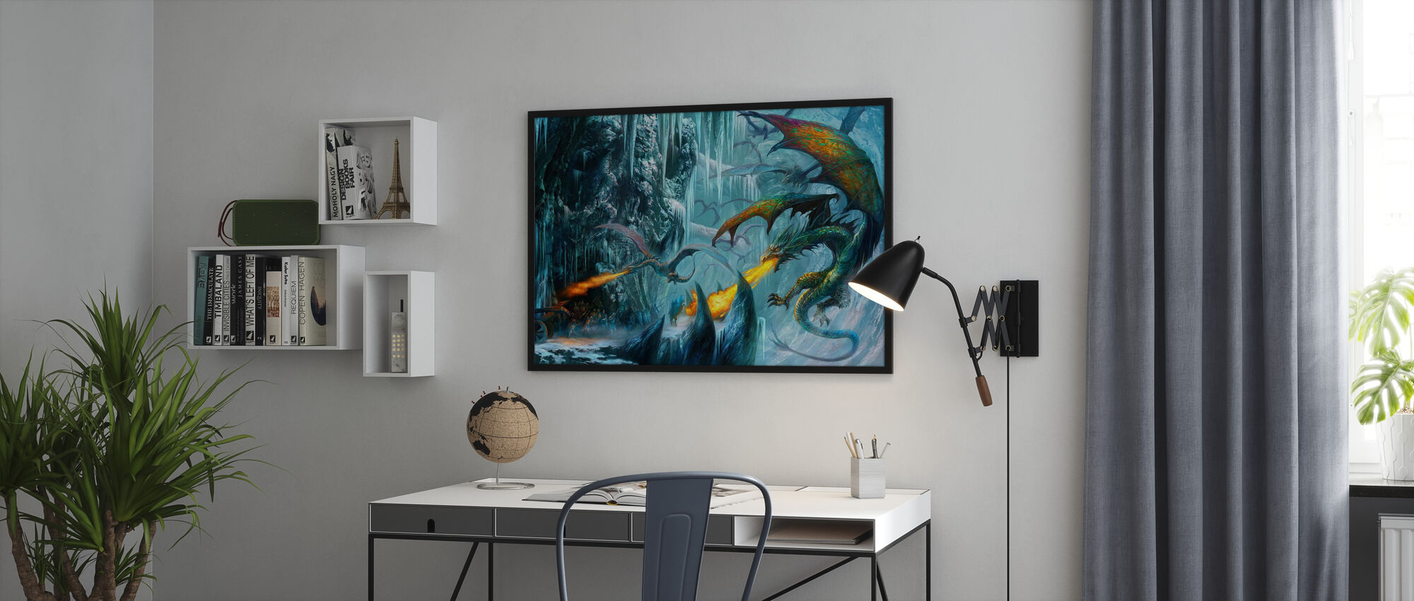 The Cave - Framed print - Office