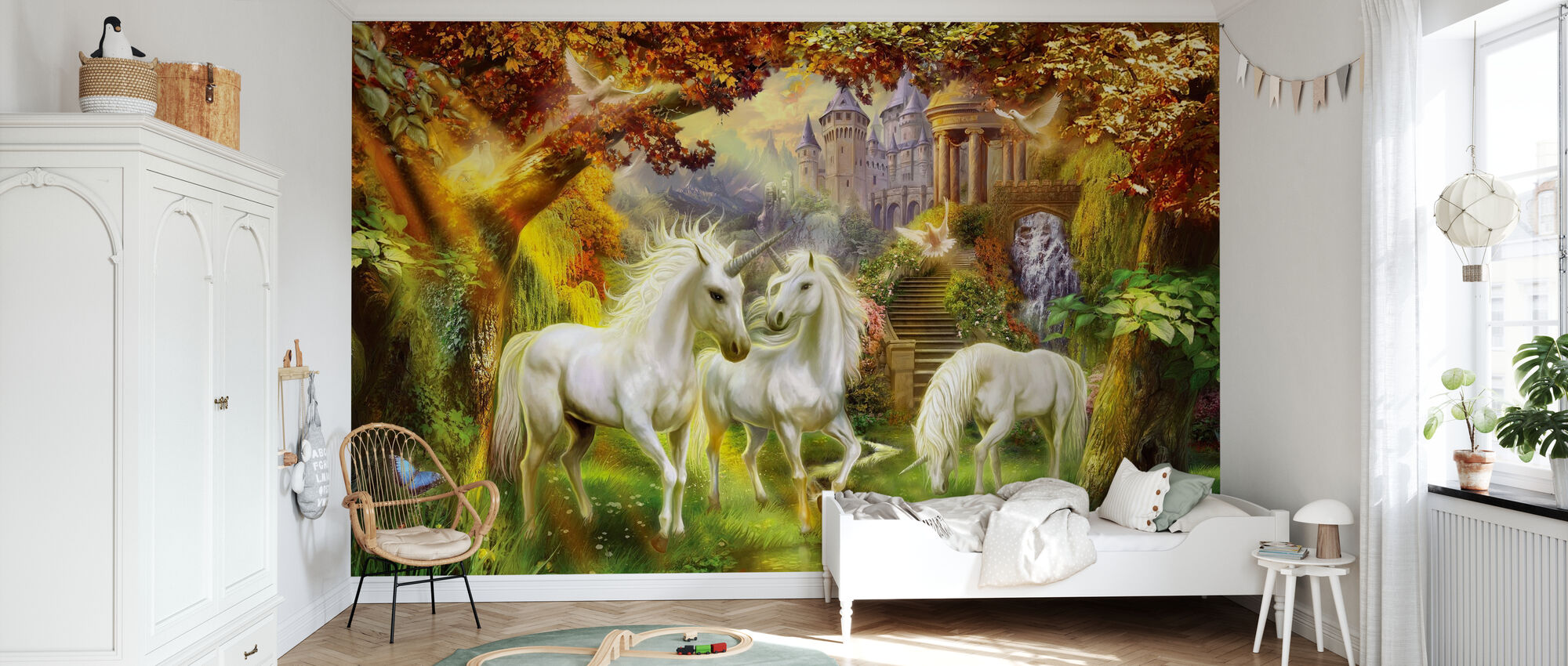 Magical Unicorn Forest Amended - Wallpaper - Kids Room