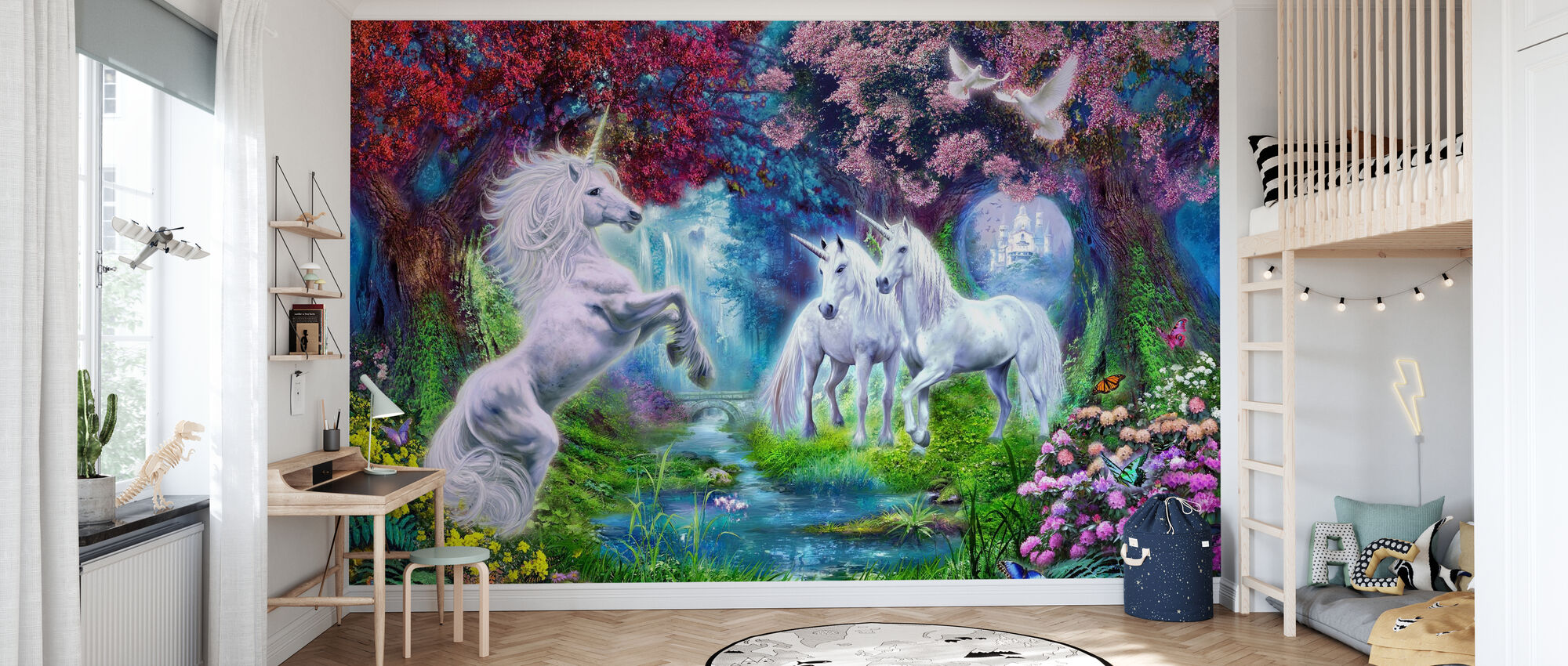 Unicorn Rendezvous - Wallpaper - Kids Room