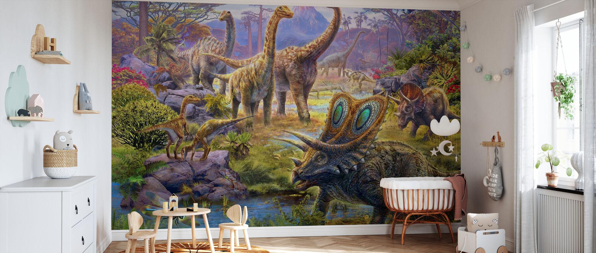 Sauropods - Wallpaper - Nursery