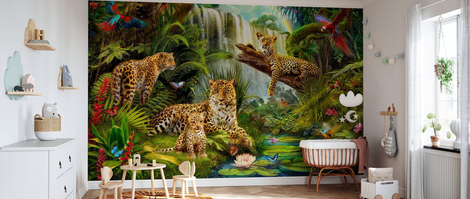Leopardi - Carta da parati - Culla