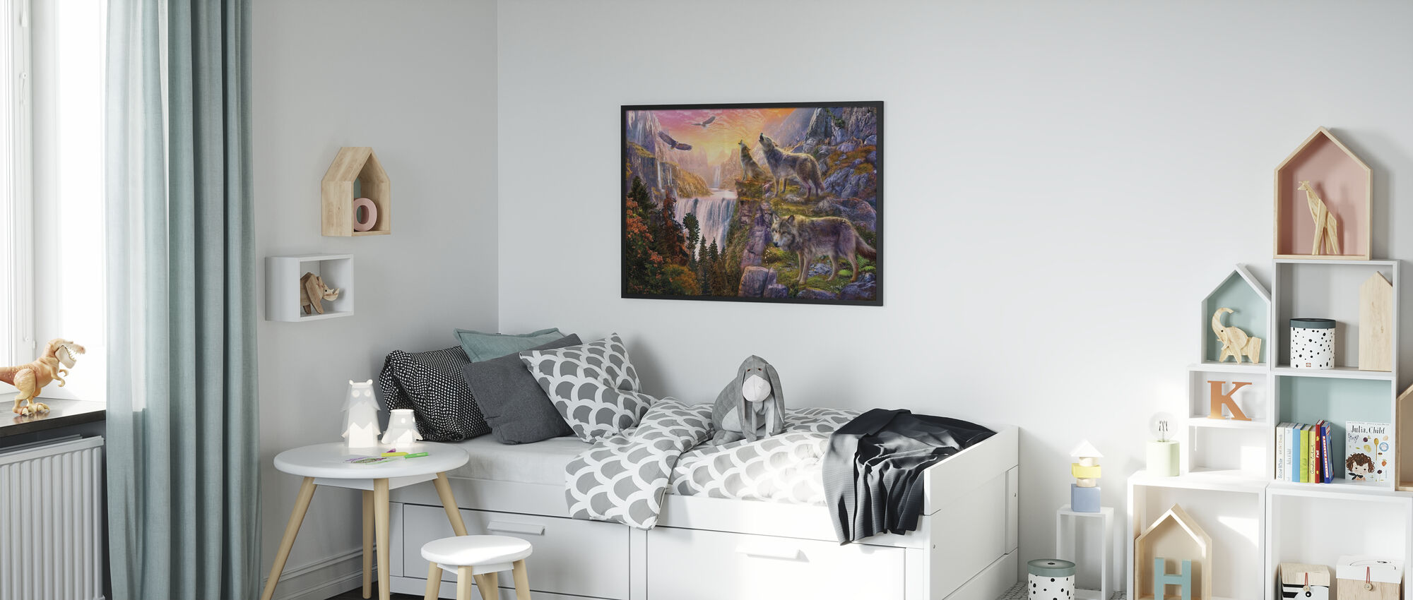 Wolfssonne - Gerahmtes bild - Kinderzimmer