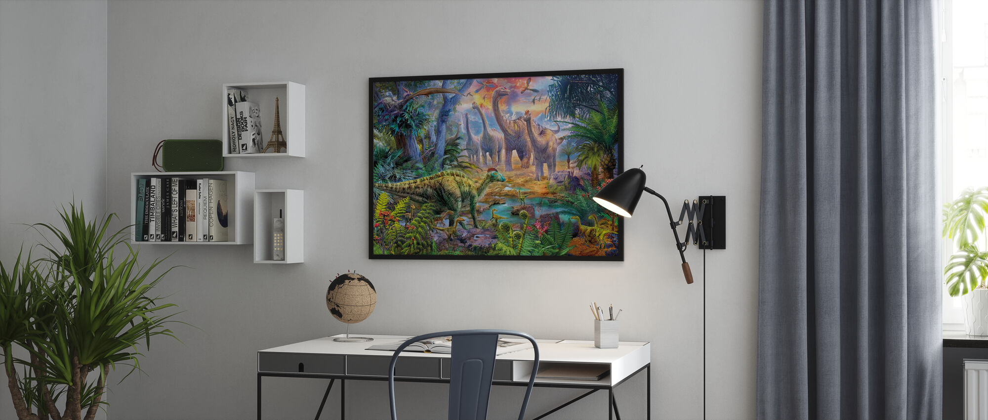 Hadrosaurus Sauropod - Framed print - Office