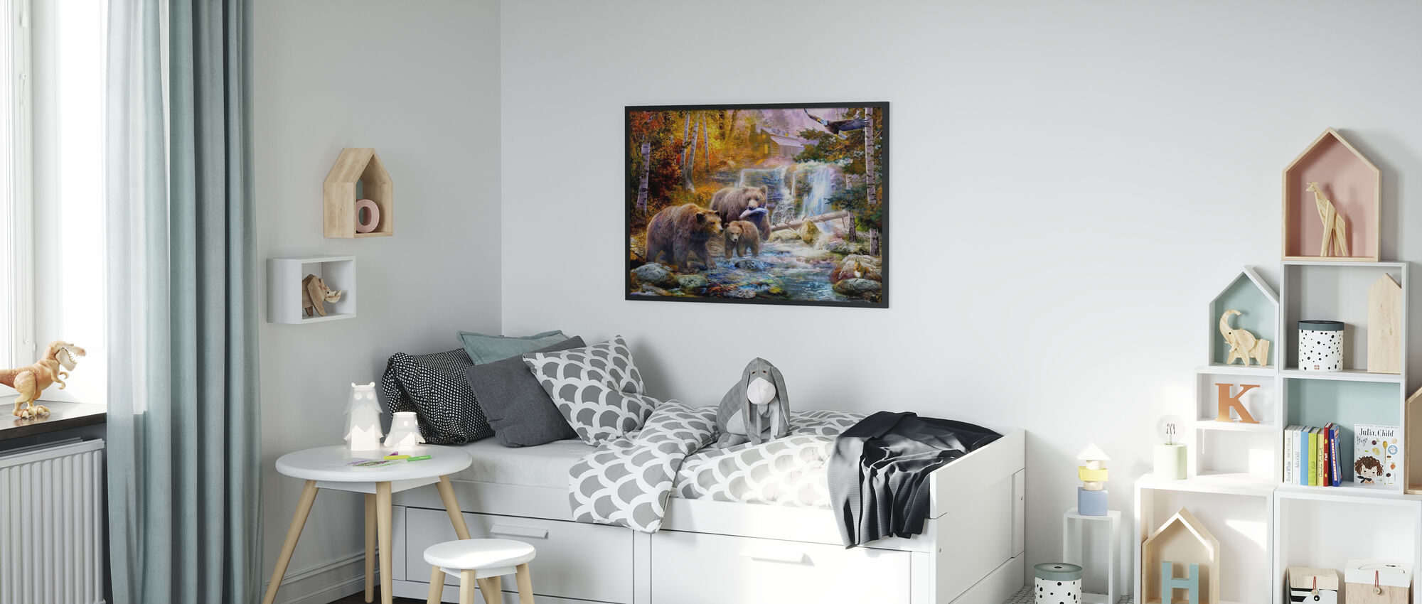 Bears in Canyon Copy - Poster - Kids Room