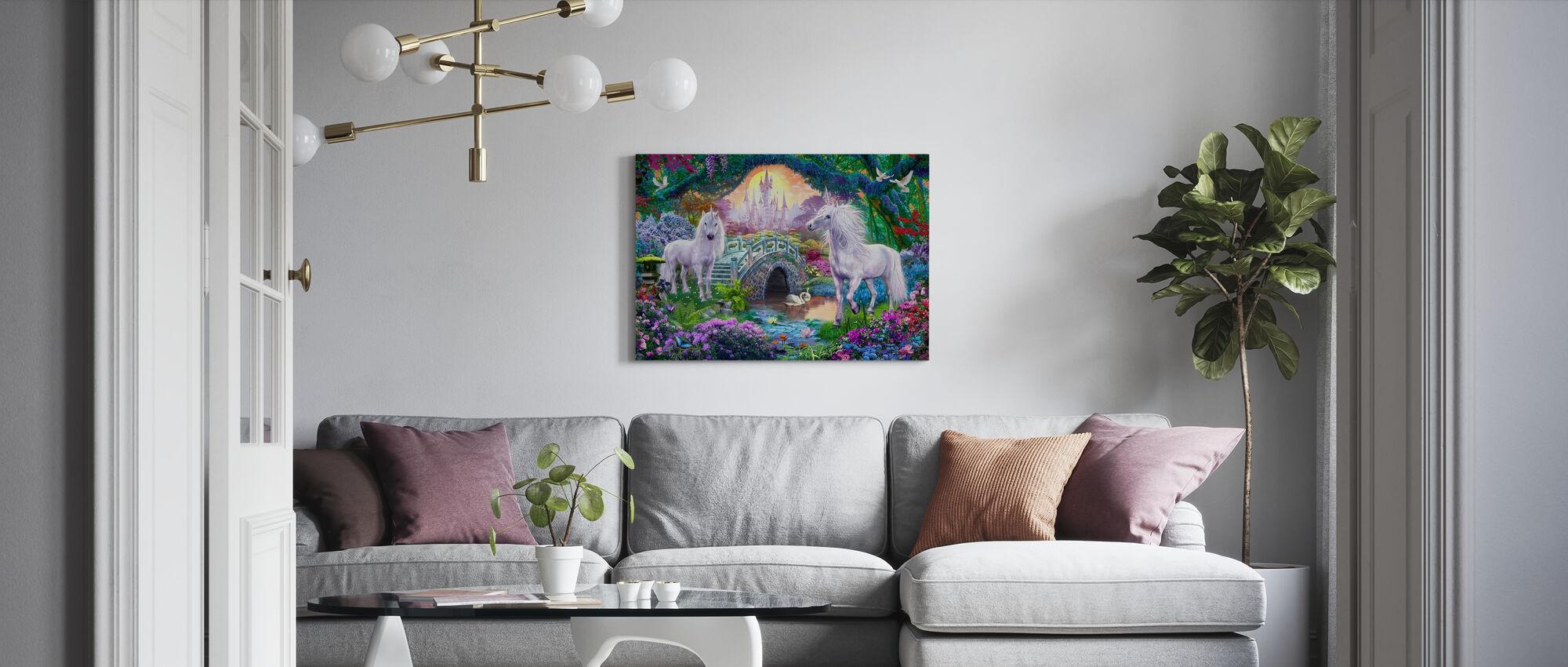 Magical Unicorn Kingdom - Canvas print - Living Room