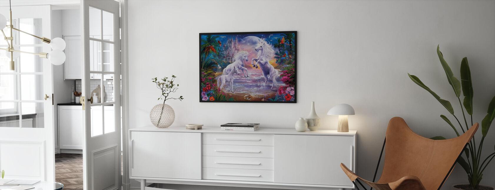 Strand Einhörner - Poster - Wohnzimmer