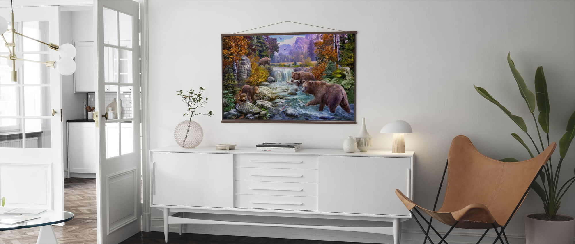 Bear in Mountains - Poster - Living Room