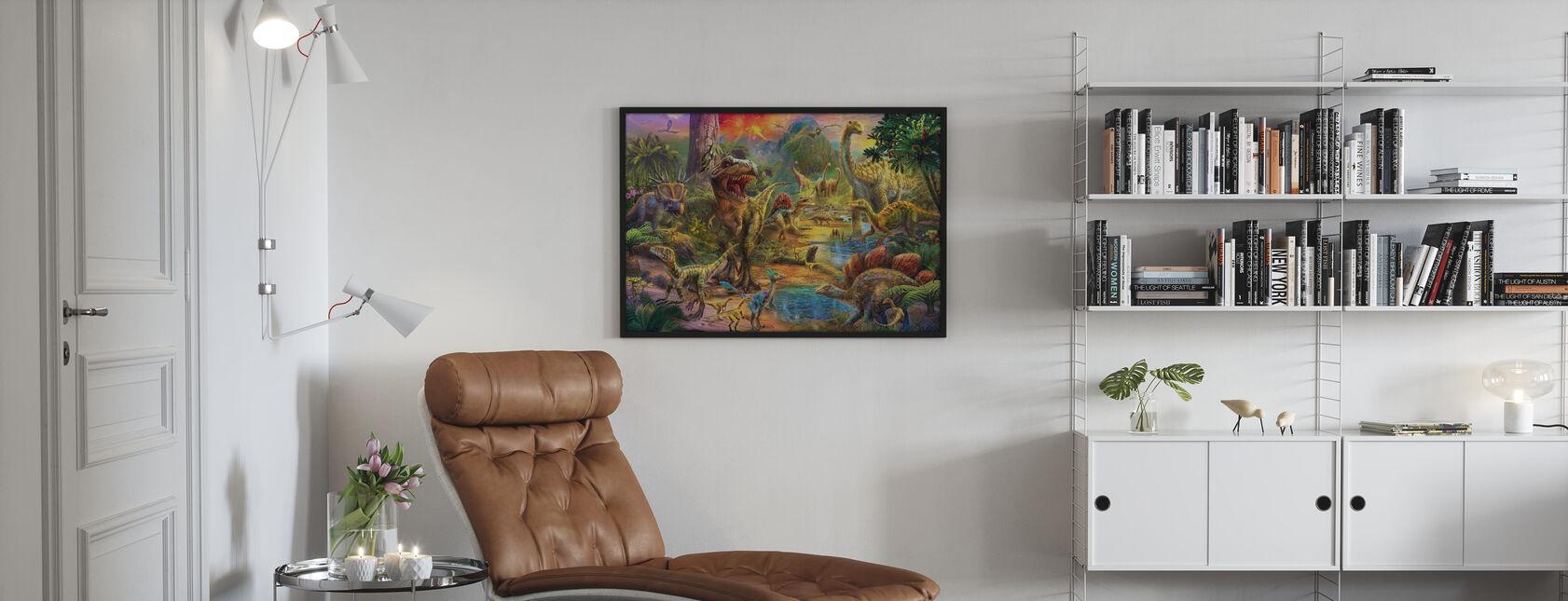 Landschap van Dinosaurussen - Poster - Woonkamer