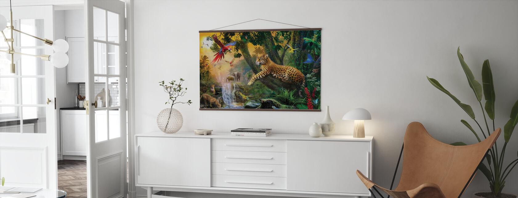 Luipaarden in de jungle - Poster - Woonkamer
