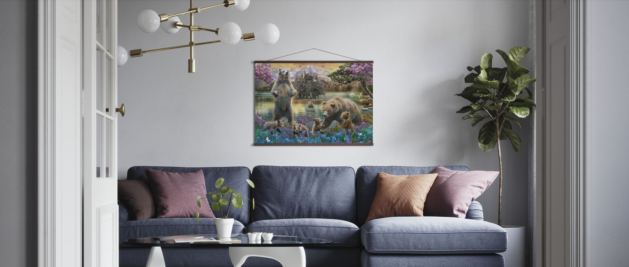 Bears at the Lake - Poster - Living Room