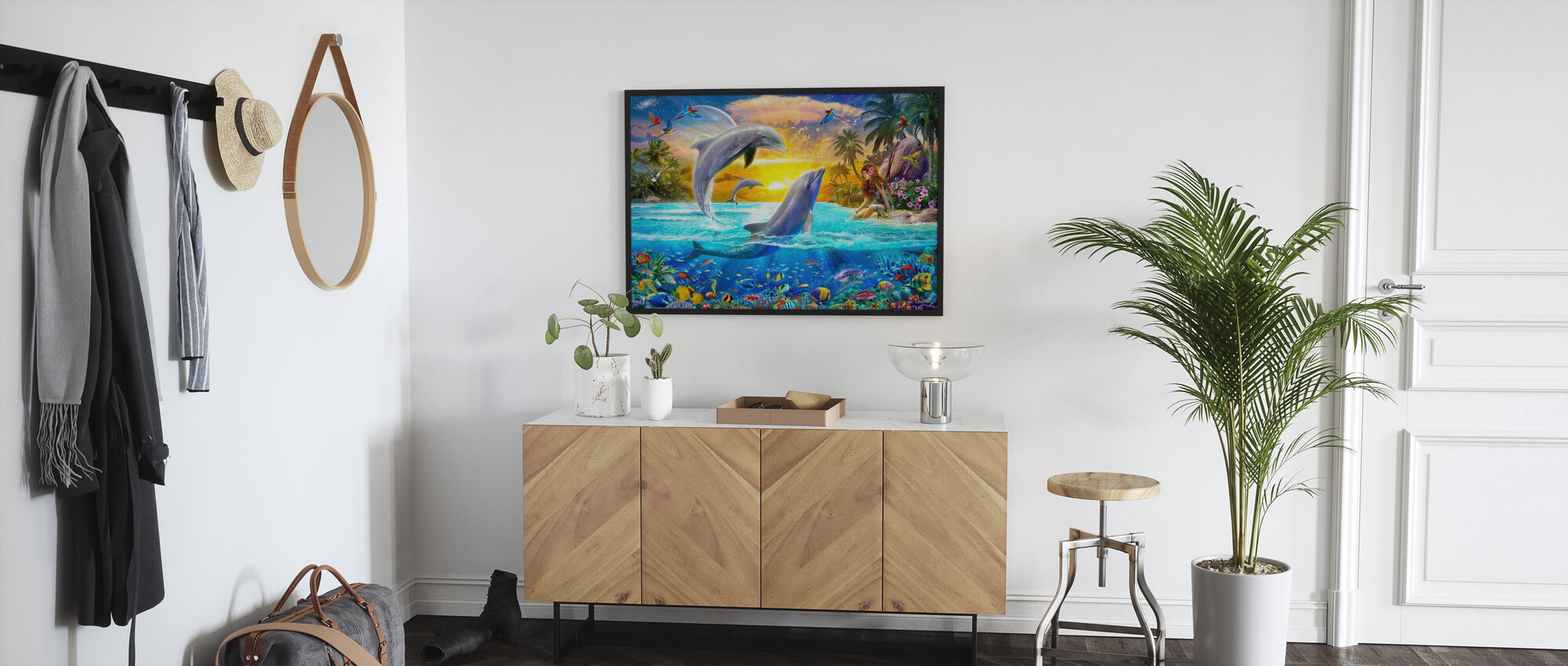 Girl and Dolphins - Poster - Hallway