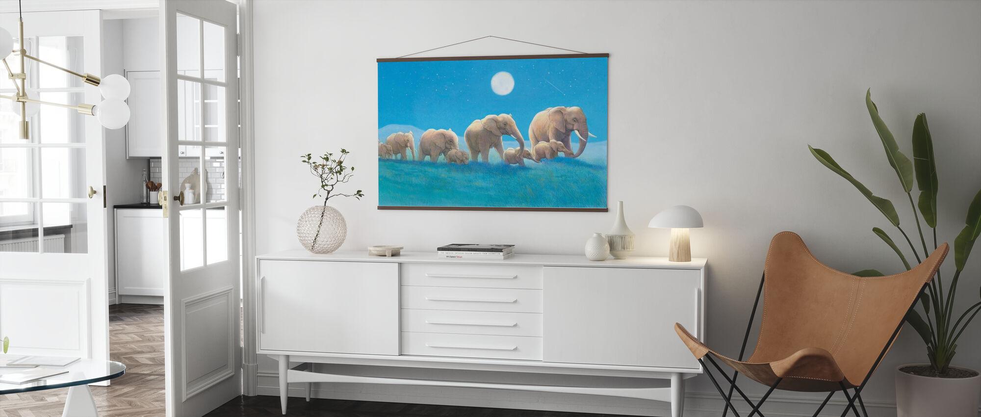 Elefanter Walk - Plakat - Stue