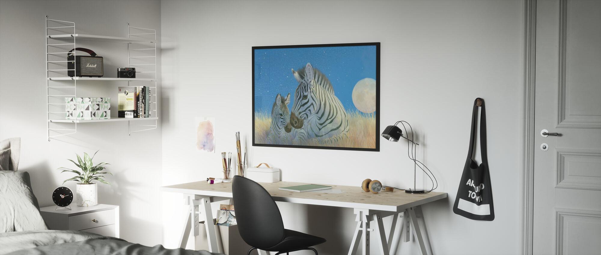 Zebra Foal - Poster - Kids Room