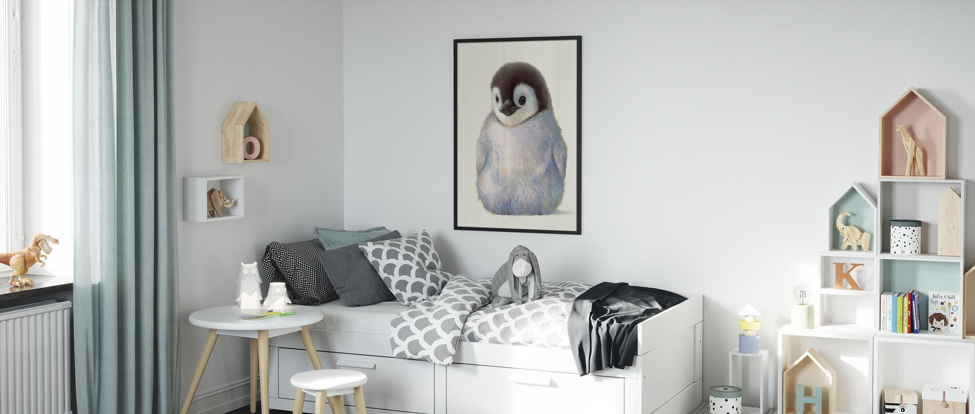 Pinguïn Kuiken - Ingelijste print - Kinderkamer