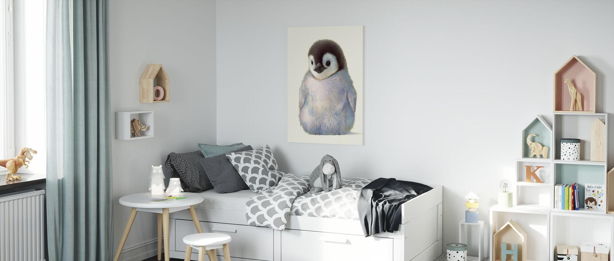 Pinguïn Kuiken - Canvas print - Kinderkamer