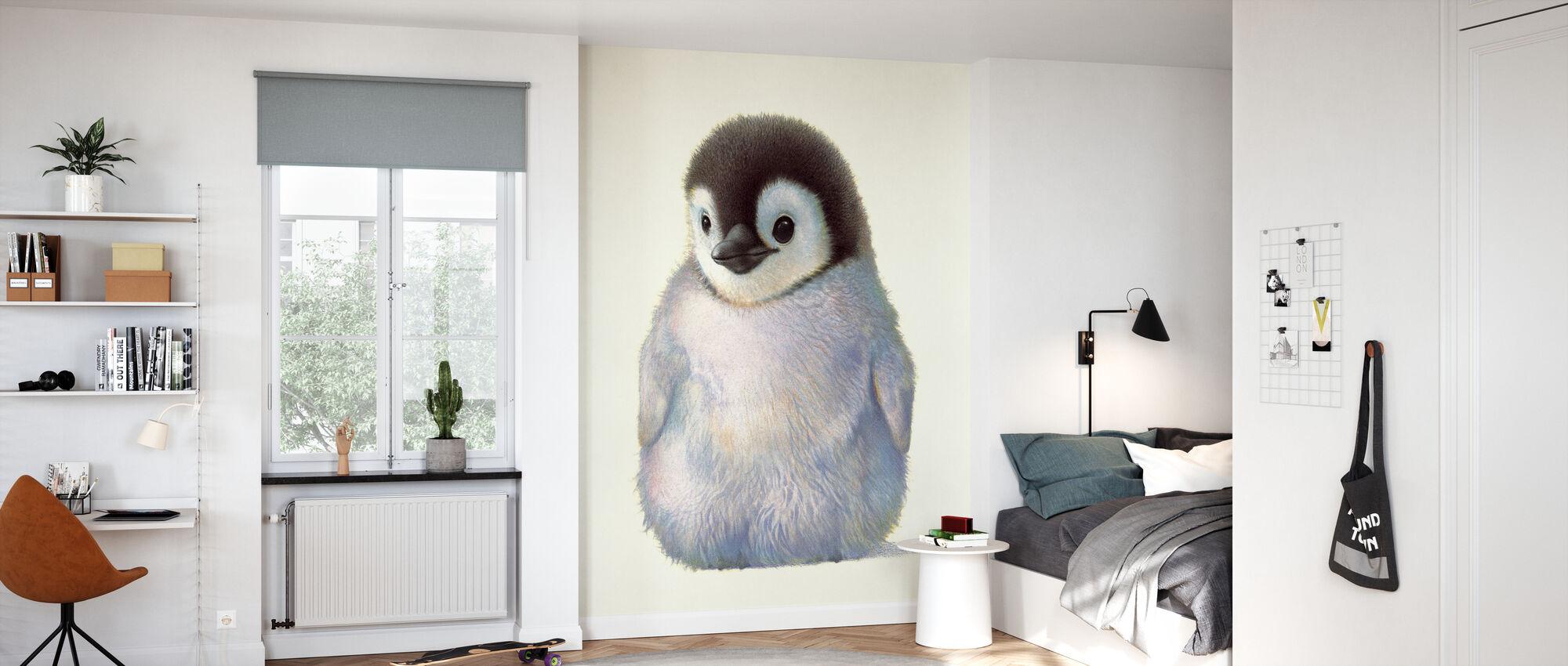 Pinguïn Kuiken - Behang - Kinderkamer
