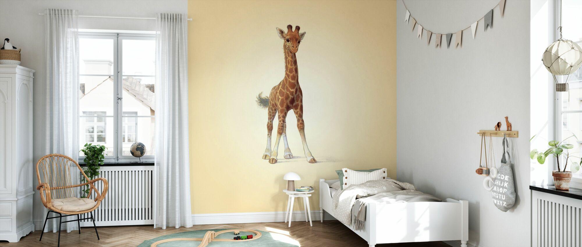 Vitello Giraffa - Carta da parati - Camera dei bambini