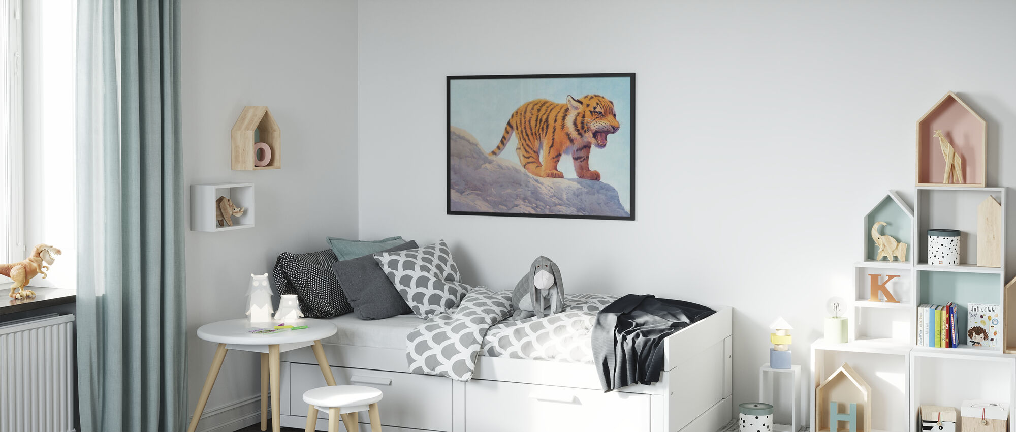 Tiger Cub Angry - Poster - Kids Room