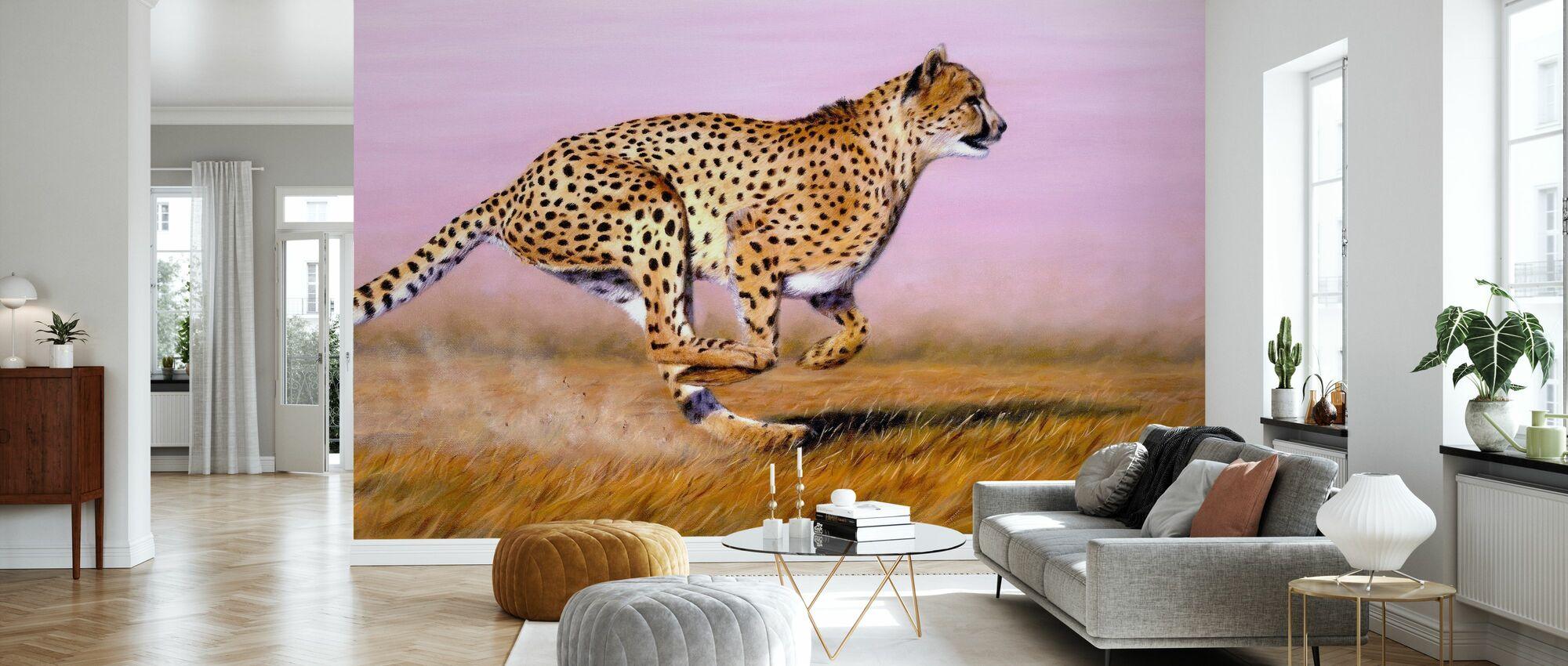 Cheetah - Wallpaper - Living Room