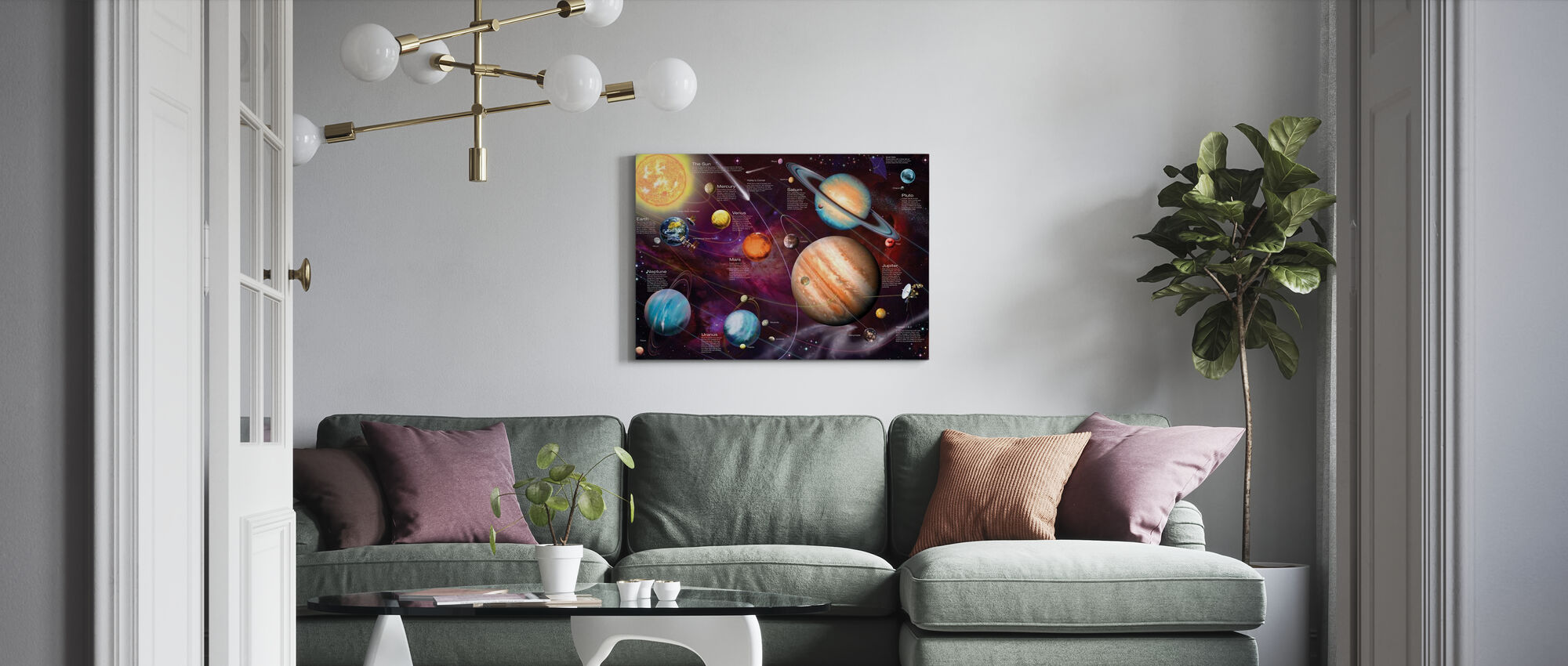 Zonnestelsel - Canvas print - Woonkamer
