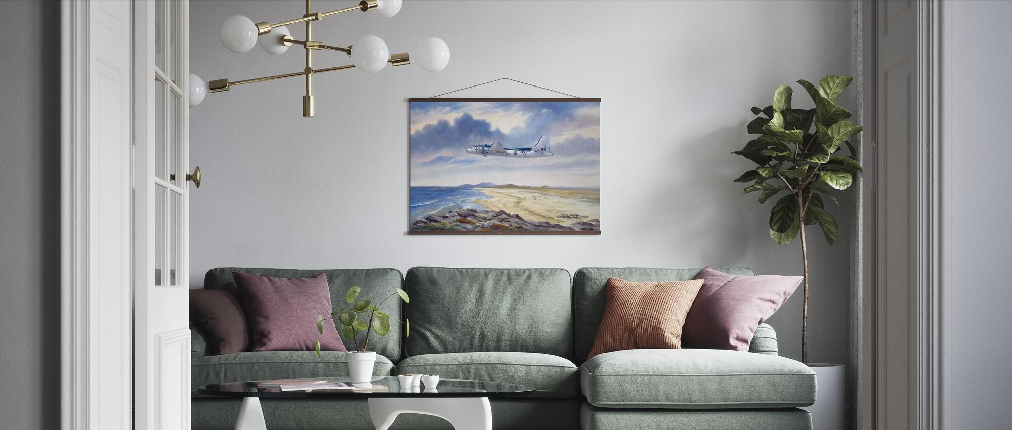 B17 Over Benbecula - Poster - Living Room