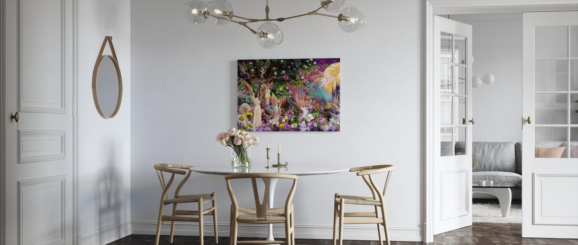 Fairy Triptych - Canvas print - Kitchen