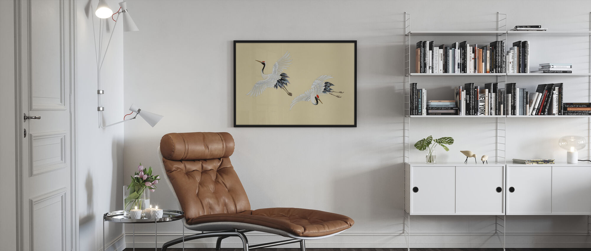 Two Cranes - Poster - Living Room