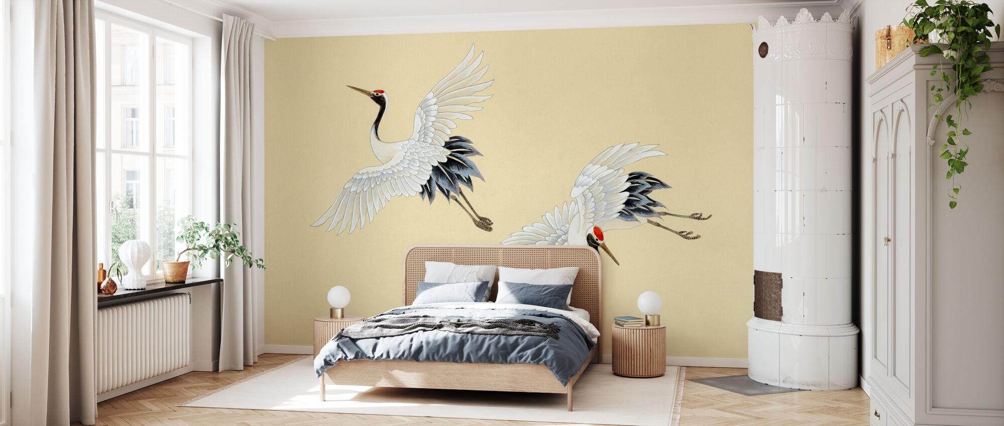 Twee Kranen - Behang - Slaapkamer