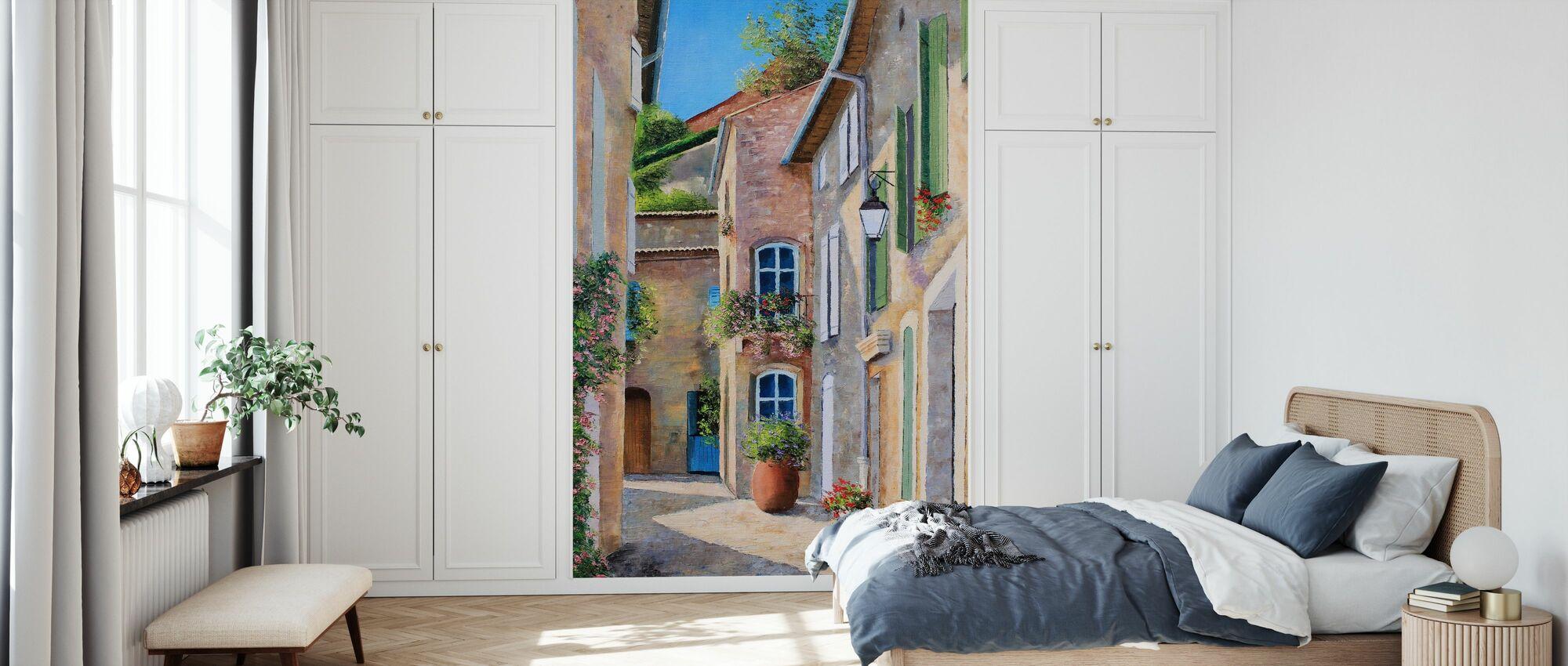 Sonnige Gasse - Tapete - Schlafzimmer